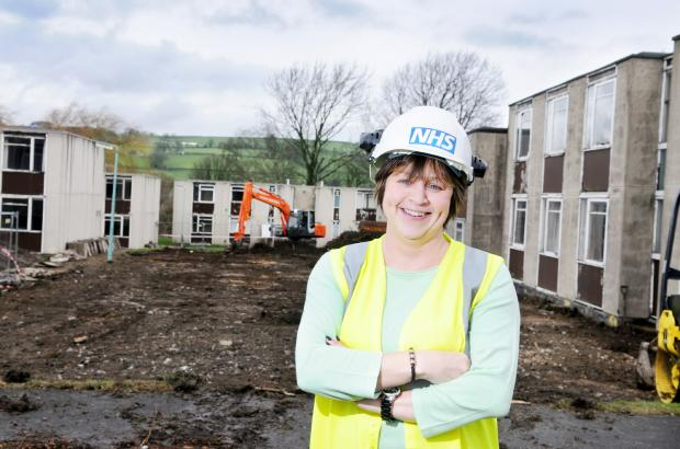 Nicola Riley, project officer with the NHS estates department, at the new parking site at Airedale Hospital
