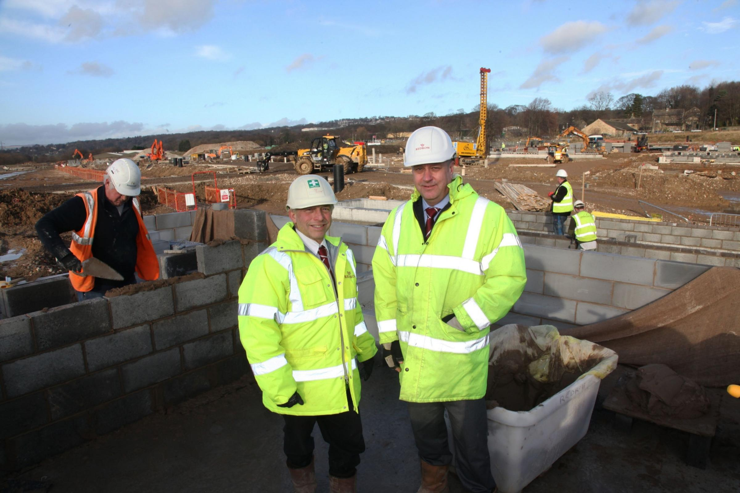 Shaun Johnson and John Grime on site at the Clariant development