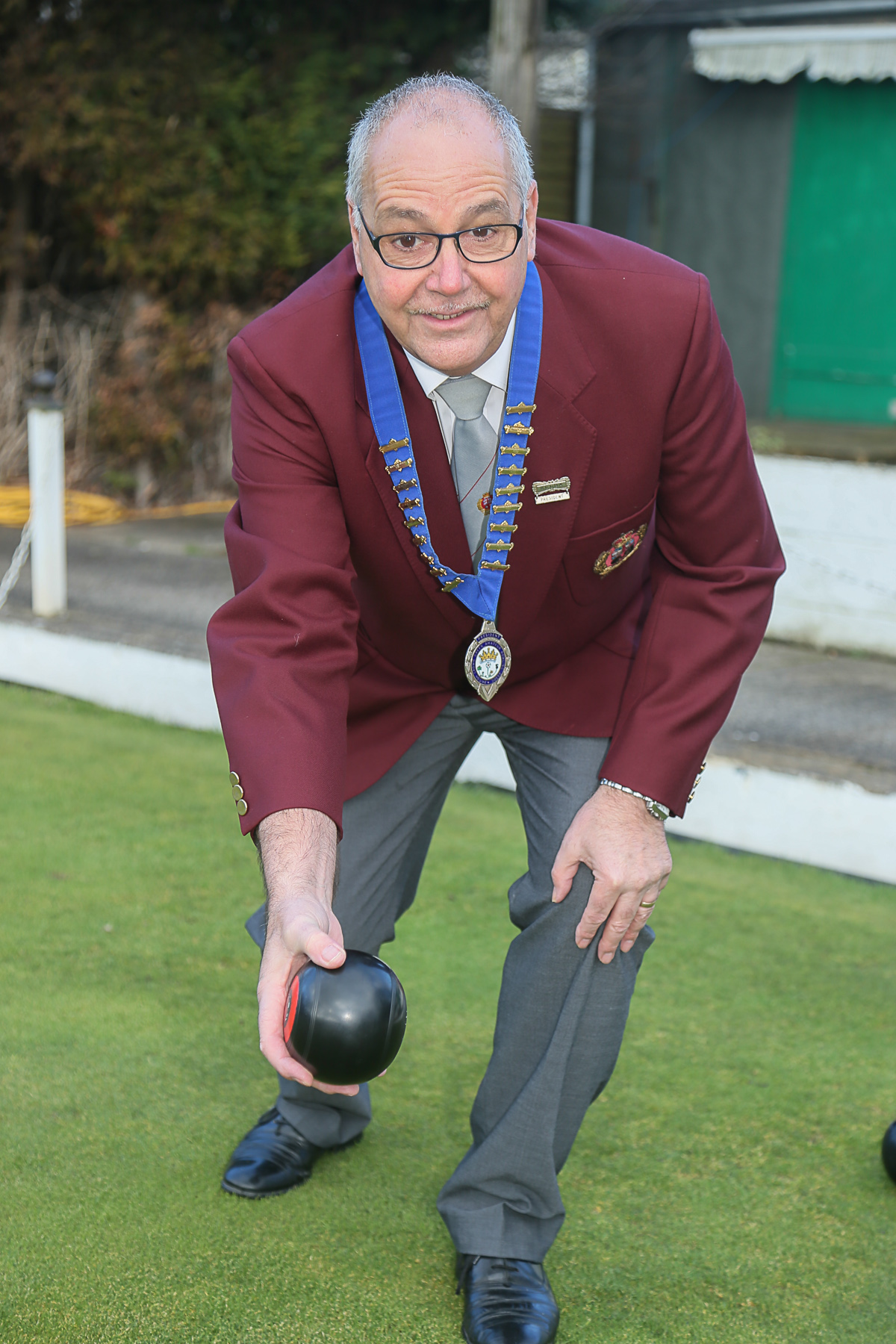 Chris Hasselby is relishing his role as president of the Britsh Crown Green Bowling Association