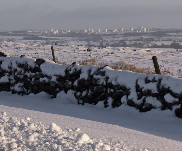 Menwith Hill in the snow by Kevin Nutter from Yeadon