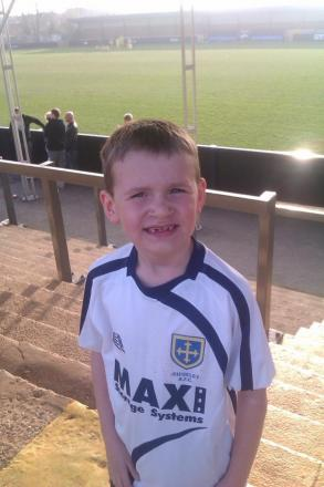 Nine-year-old Guiseley AFC supporter Alfie Hall