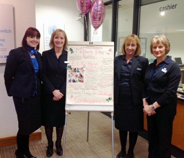 TSB manager Sarah Rafferty, with members of staff Cath Badura, Caroline Monkman and Jane Milne