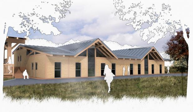 An artist's impression of how the Nell Bank accommodation block would look