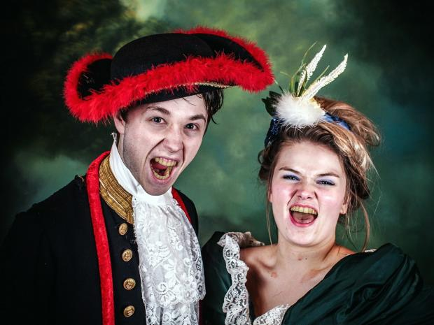 Michael McGeough and Megan Crowley as the Thenardiers in the Upstagers' production of Les Miserables