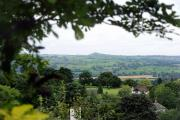 The view from Bramhope over to Almscliffe Crag