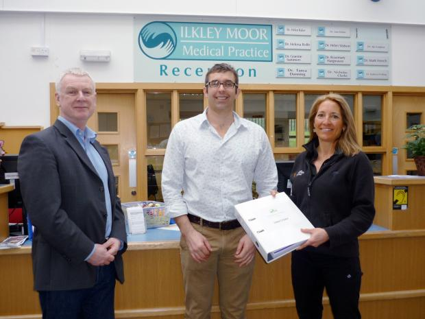 Ilkley Gazette: From left are psychotherapist Paul Birch, Dr Graeme Summers and physiotherapist Liz Blizzard