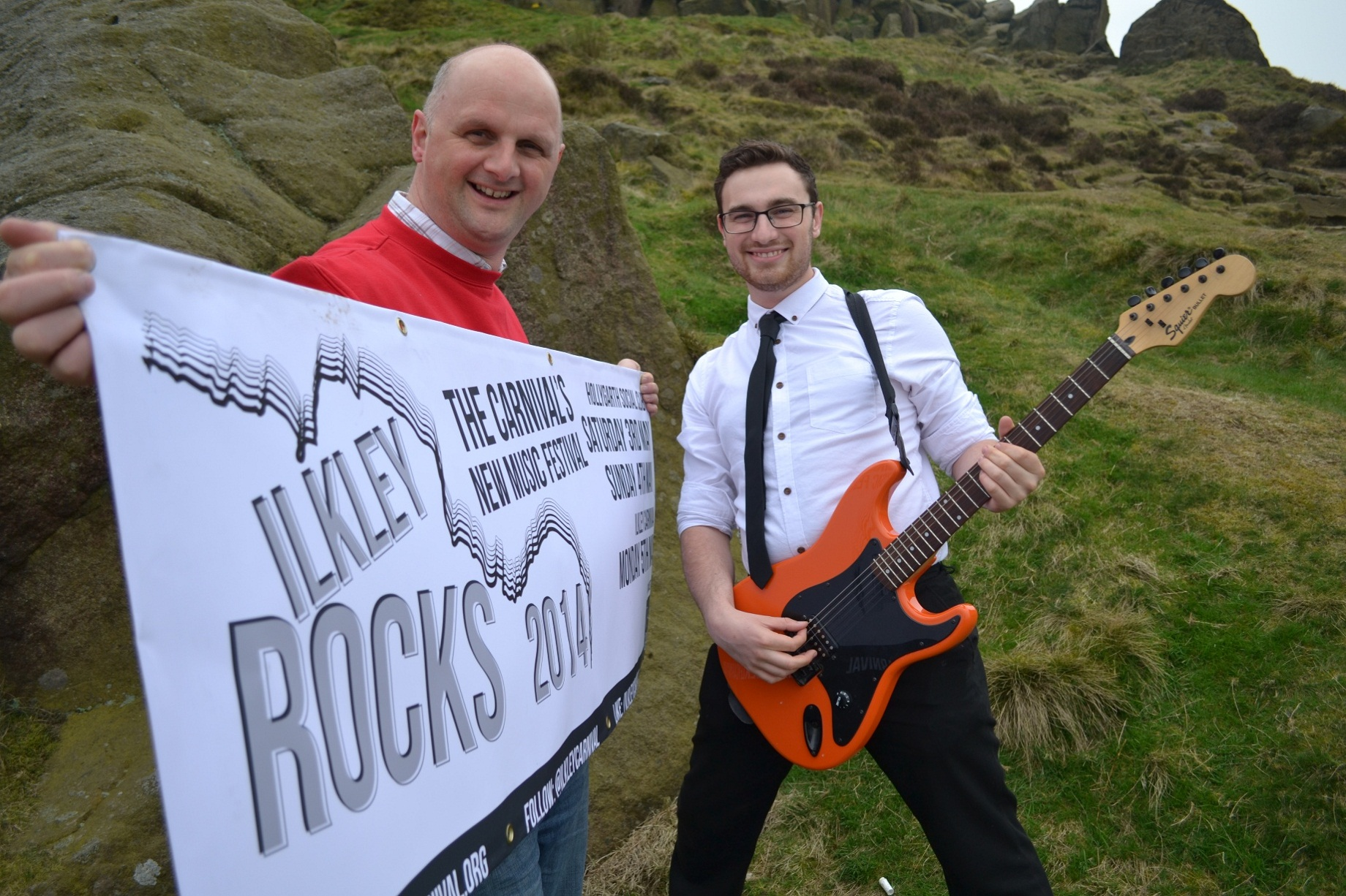 Ilkley Rocks founder and co-organiser Danny Greenwood, right, with Ilkley Carnival committee member Colin Watson