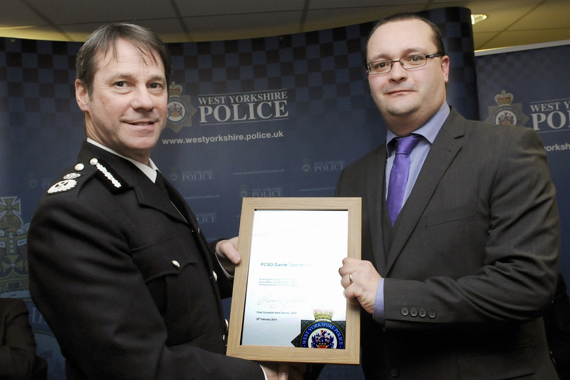 Awards for Ilkley officers who faced raiders on Burley Post Office