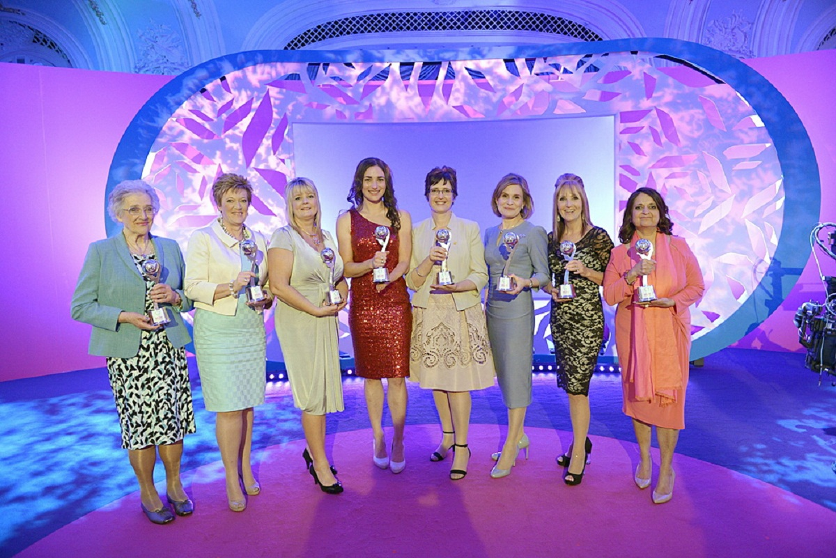 Pamela Clarke, far left, with fellow Mum of the Year award winners
