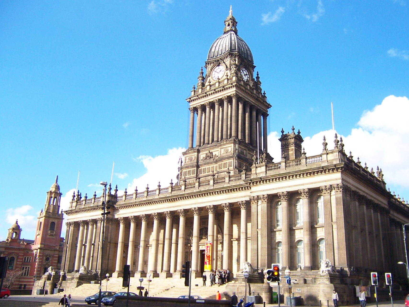 Leeds Town Hall, where Julie and Vicky got married today