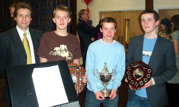 Sixth Form head Trevor Davidson, left, was proud of Prince Henry's Grammar School's efforts in the final