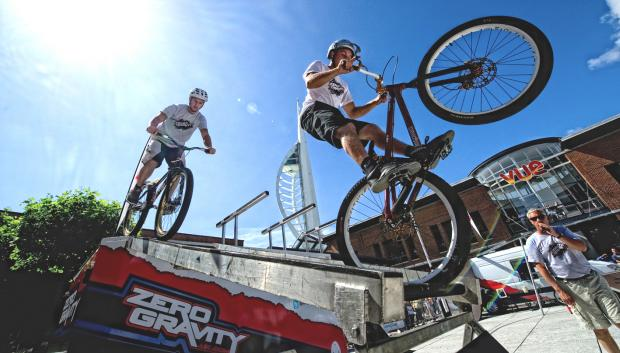 Daredevil cycling act Zero Gravity, who will be headline act at this year's Ilkley Carnival