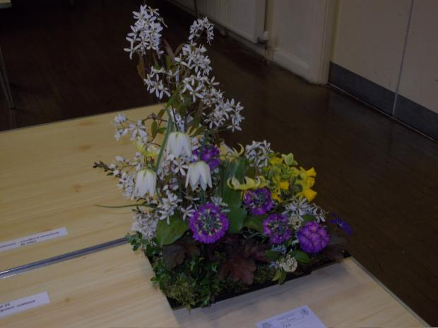 Ilkley Gazette: One of the winning floral displays at this year's show in Addingham