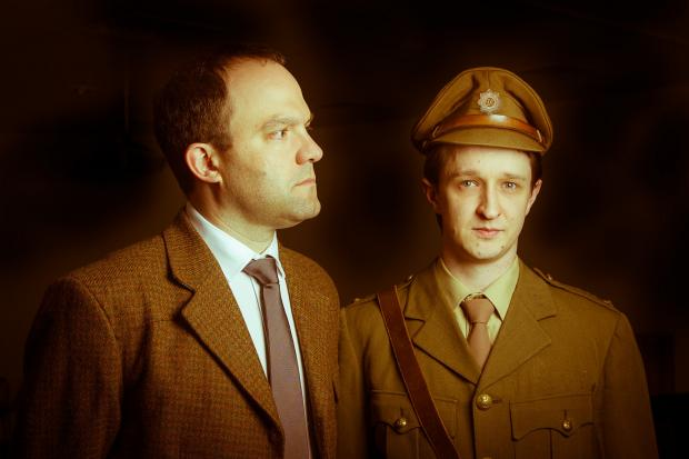 David Nicholson (left) and Matthew Gardner in a scene from Not About Heroes. Picture David Brett