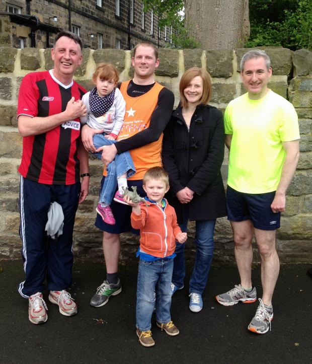 Ilkley Gazette: From the left are Pastor Wes Johnston (Leeds Reformed Baptist Church), the Brownnutt family and MP Greg Mulholland