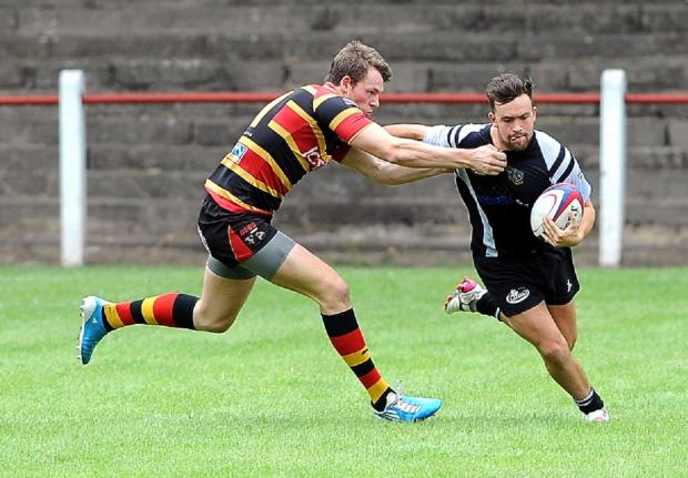 Ilkley Gazette: Winger Harry Hudson scored two tries for Otley in their victory at Bromsgrove