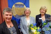 From left, Agnes Tomlinson, president-elect, Dr Sue Butler  president of Ilkley Soroptimists, and Gill Wilkinson, immediate past-president