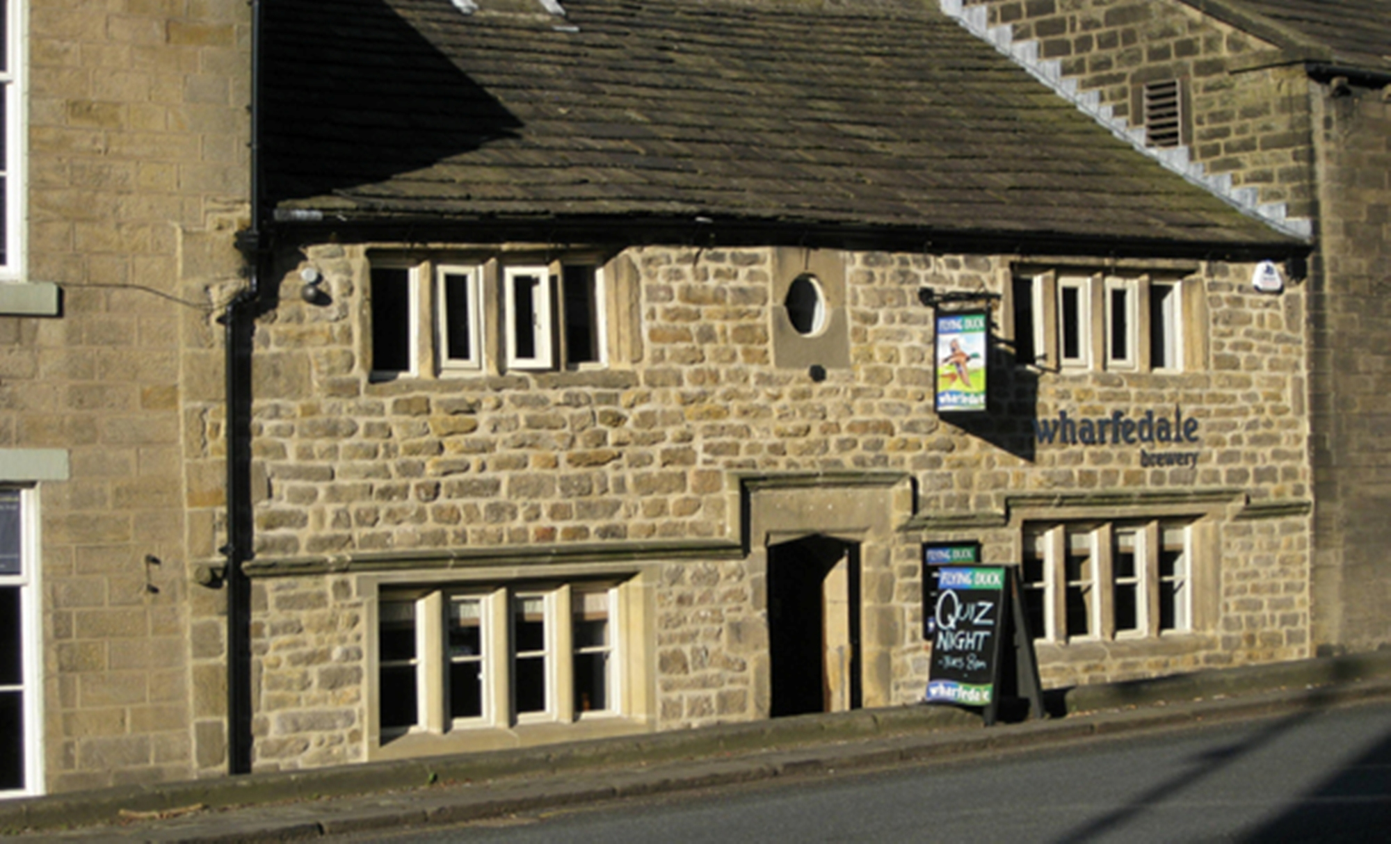 The Flying Duck in Ilkley which houses the Wharfedale Brewery