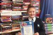 Faye Rowntree with her award