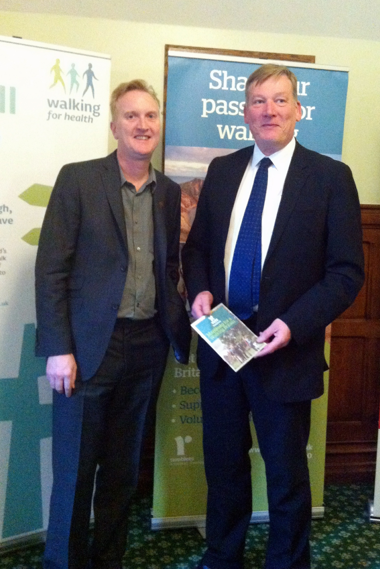 Ramblers Chief Executive Benedict Southworth, left, with Kris Hopkins MP