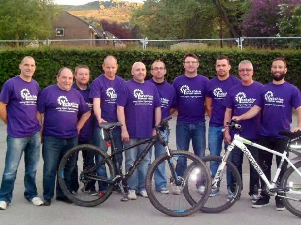 The group of cyclists aiming to help the Yorkshire Cancer Centre