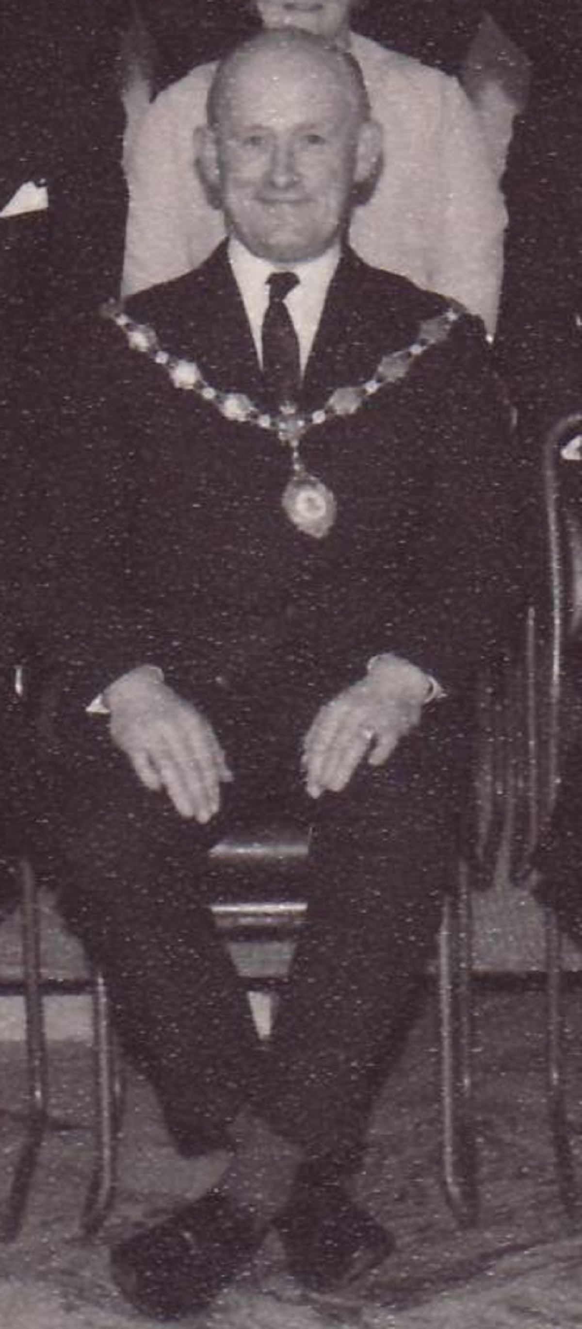 The late Colin Outtersides, when he was chairman of Ilkley Urban District Council