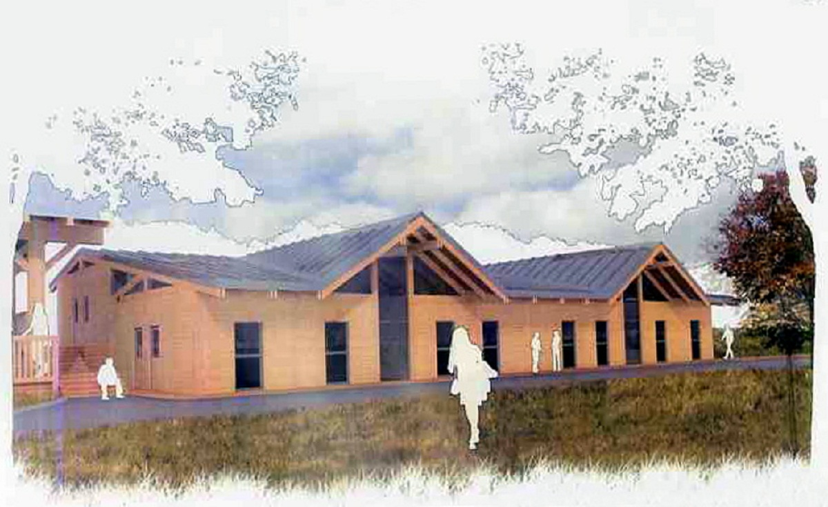 An artist's impression of the Nell Bank accommodation block