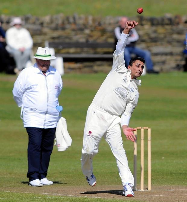 Ilkley Gazette: Nawaz Sardar has been starring with bat and ball for Undercliffe