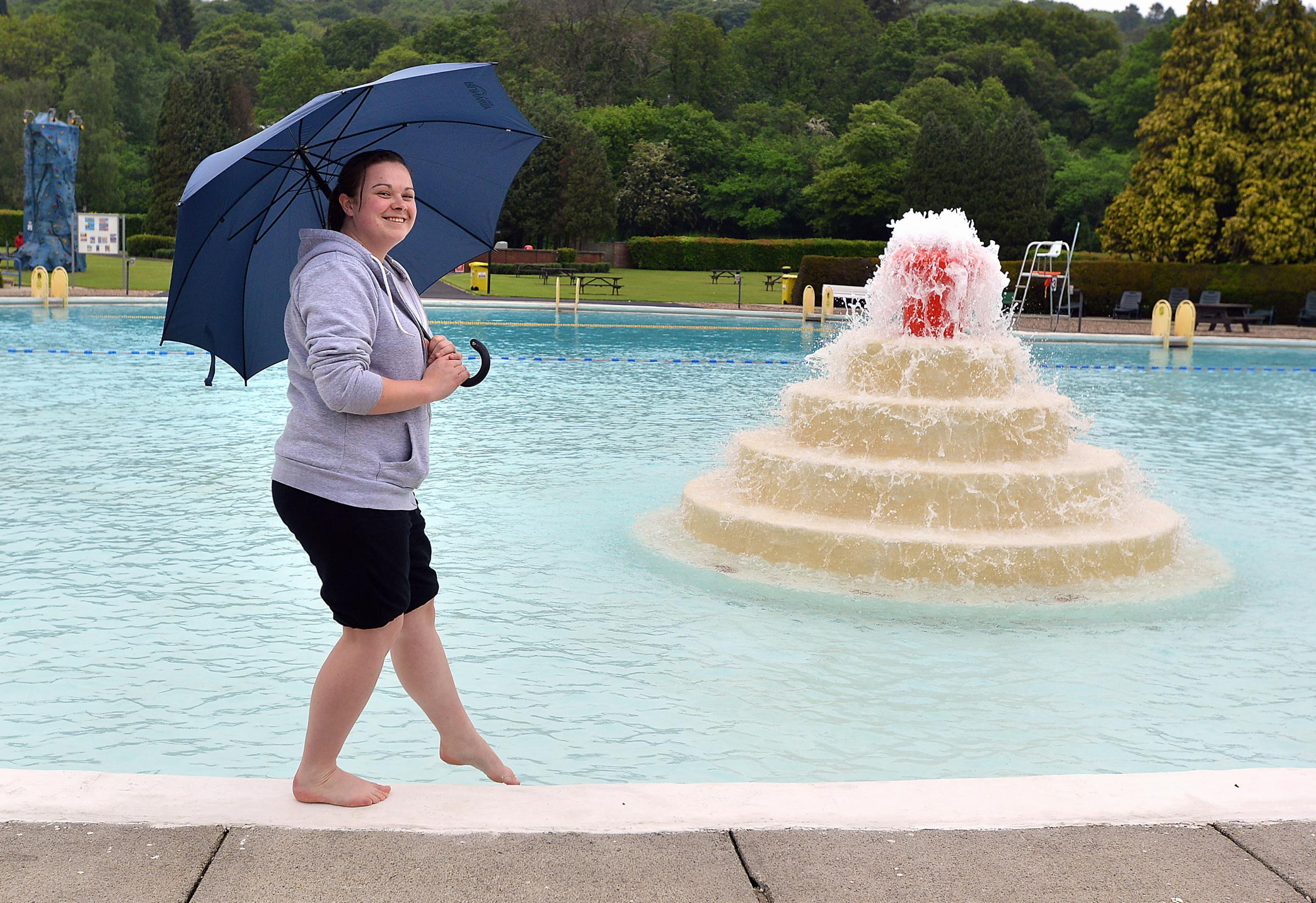 You need a brolly as Ilkley Lido opens