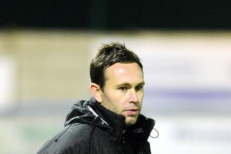 Guiseley's manager Mark Bower