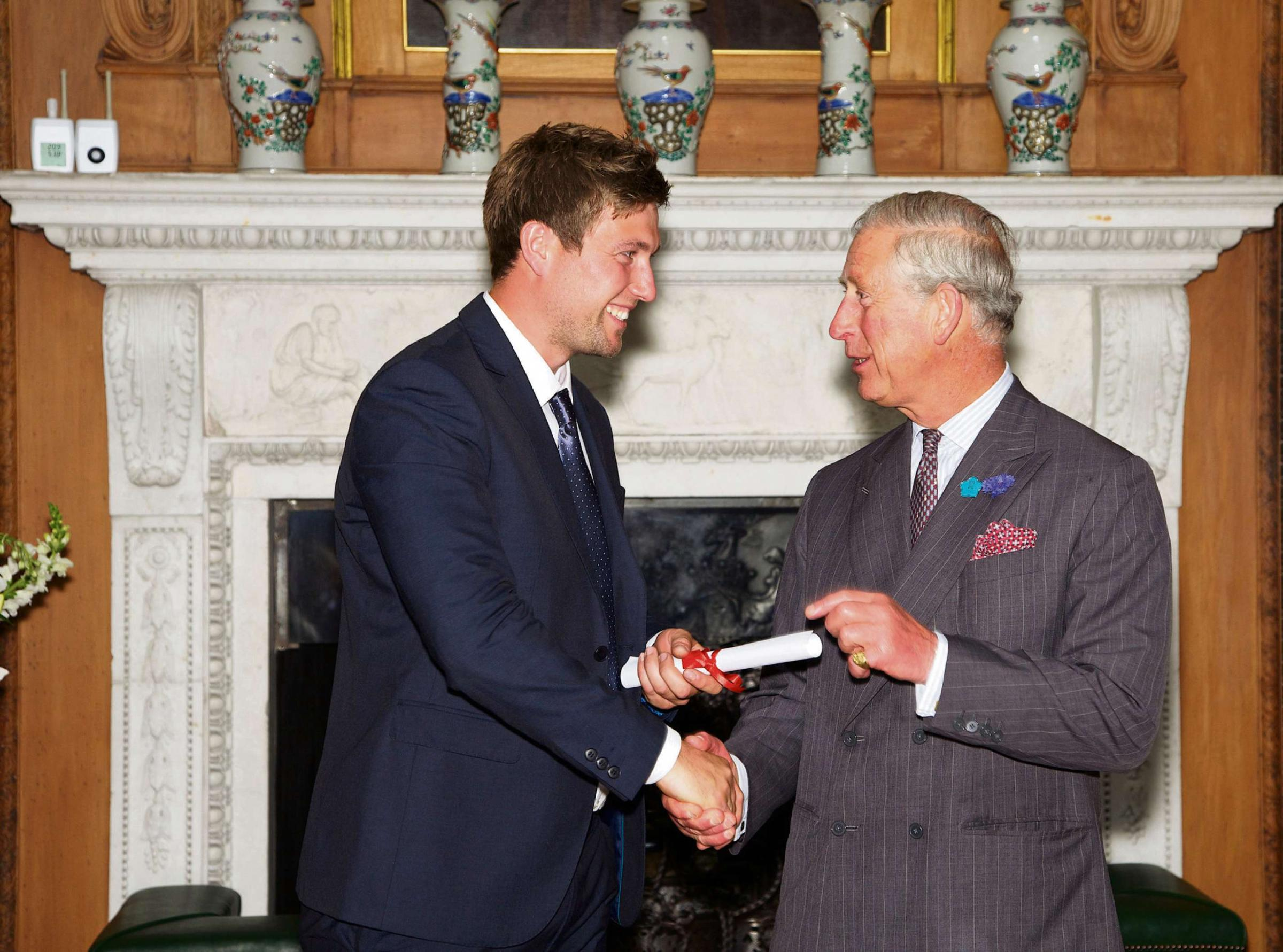 Joiner Stephen Jefferson with Prince Charles