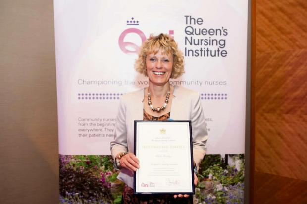 Claire Rowley, award winning health visitor.