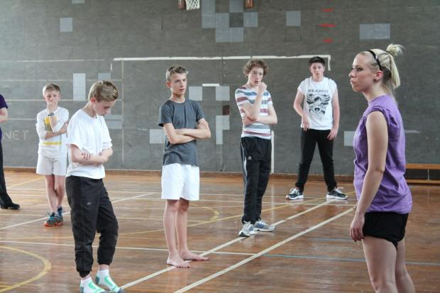 The Phoenix Dance Theatre, alongside Matthew Bourne's New Adventures held a dance workshop at Ilkley Grammar School this week.  They are on the lookout for male dancers for the upcoming production of 'Lord of the Flies' at the Alhambra,. (6681599)