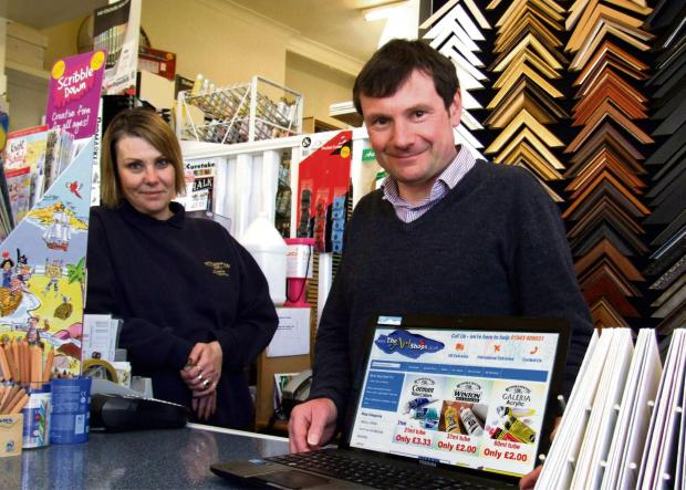 Tim and Cath Tennant, owners of Ilkley's The Art Shop (6681477)