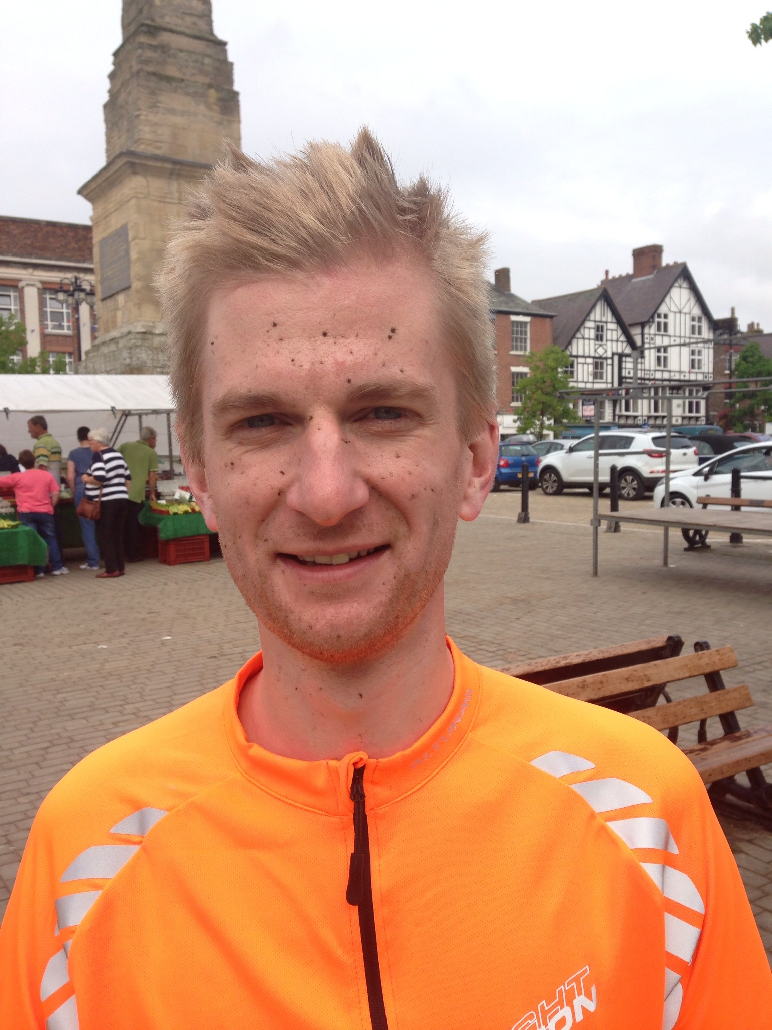 (7027979) James Izzard who is aiming to cycle 170 miles in a day for cancer charities