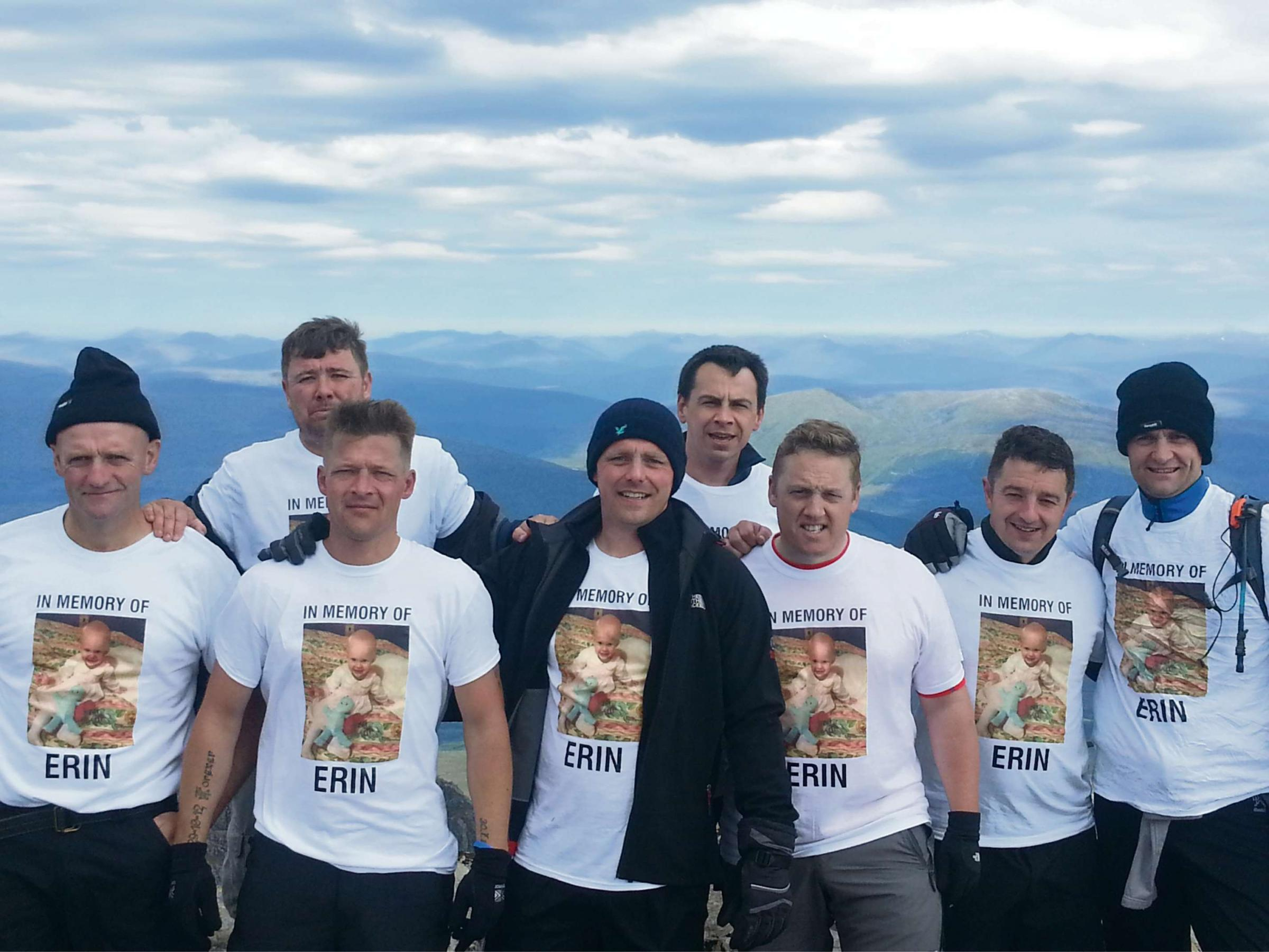 Team Erin on top of Ben Nevis.