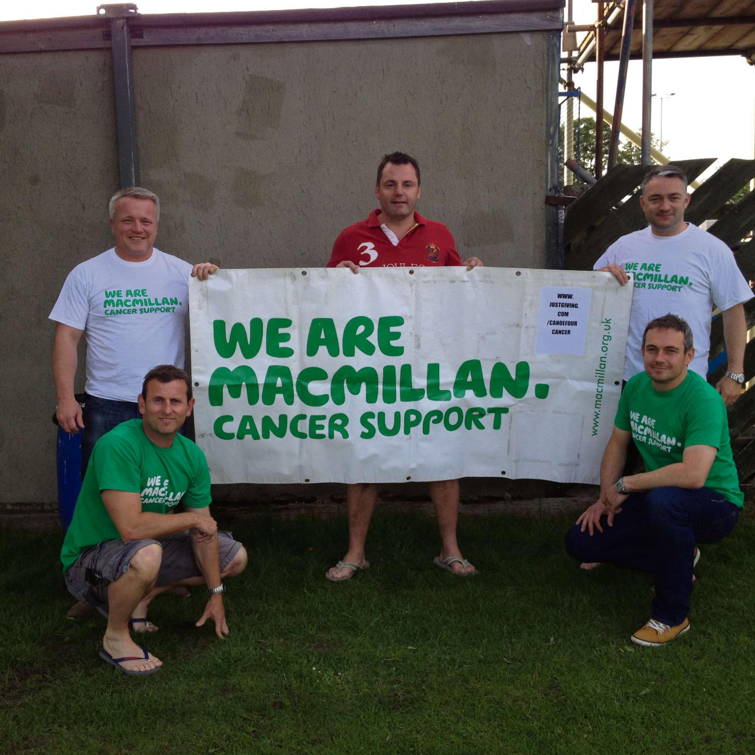 (7024980) Some of the Canoe for Cancer team. From left to right, top row Martyn booth, Craig