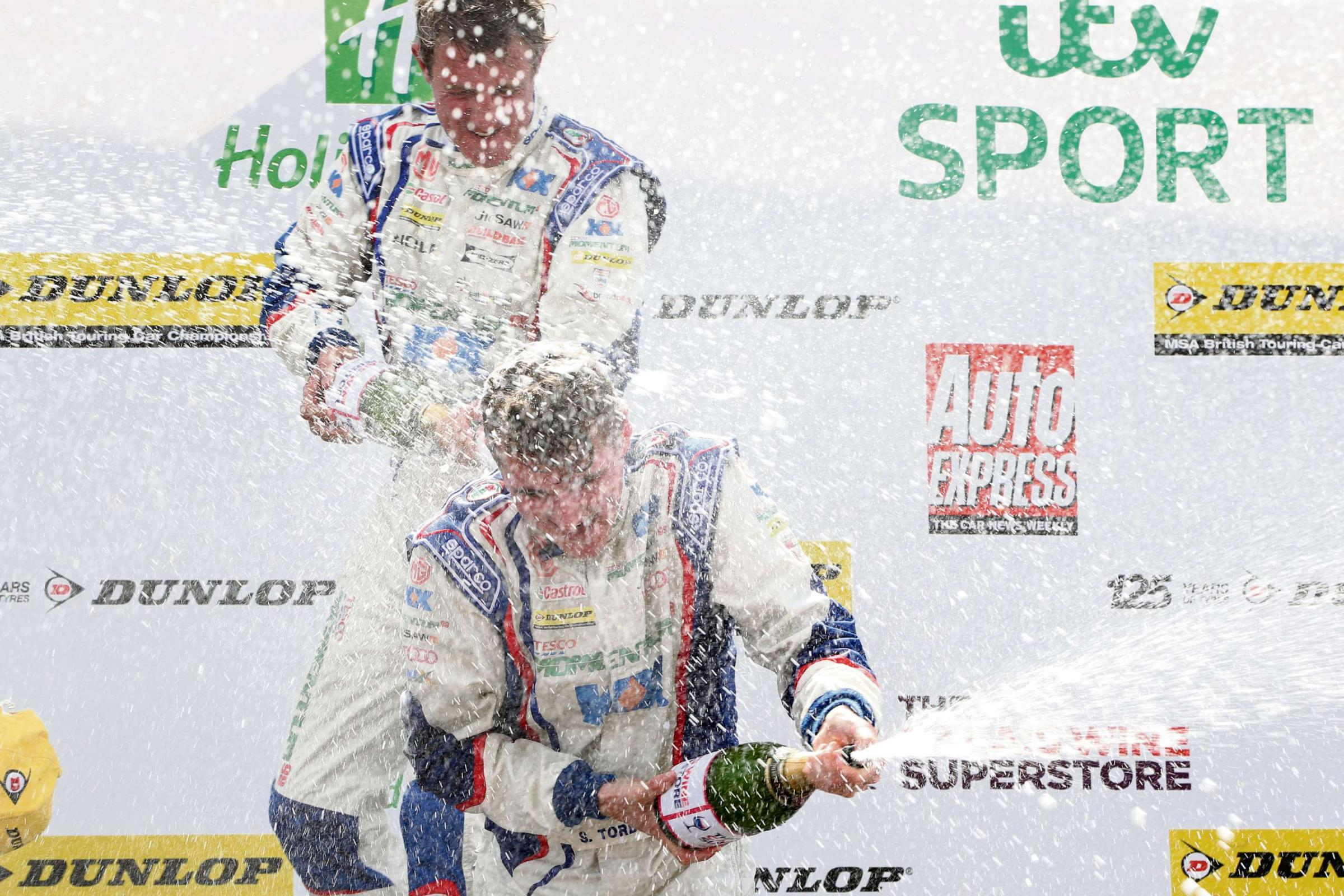 Sam Tordoff would love to be spraying the champagne with team-mate Jason Plato at Croft