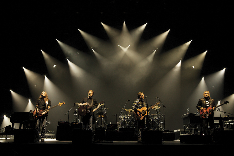 The band on stage on The History of The Eagles tour
