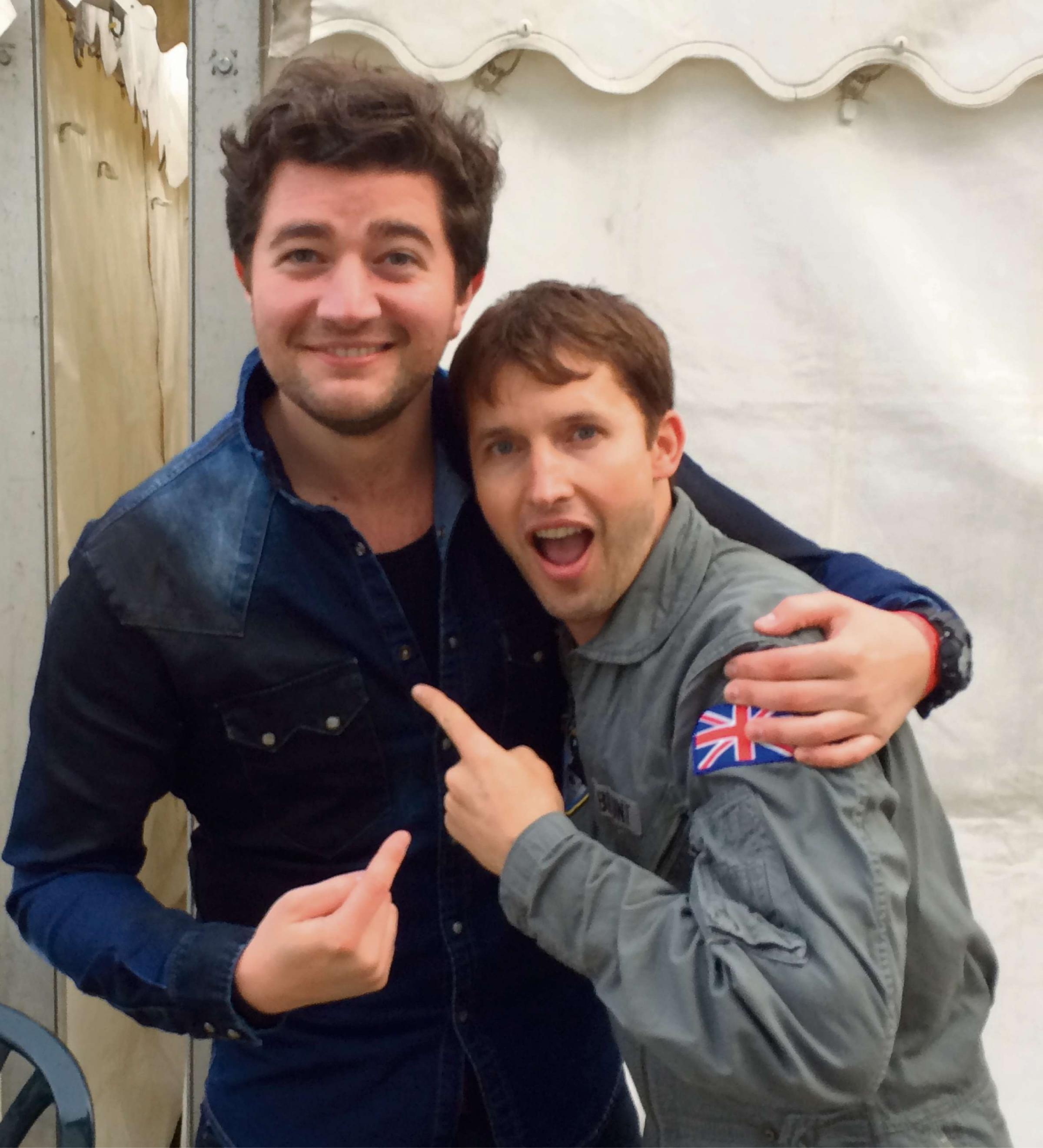Rupert takes tips from James Blunt