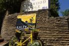 The banner outside Westwood Lodge that was stolen