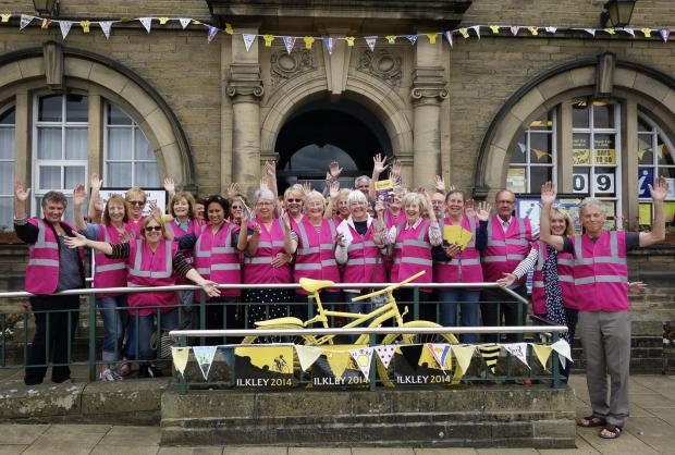 Photograph by Liz Stringer (7726148)Ilkley Soroptimists' team of Tour de France guides in their eye-catching high visibility vests