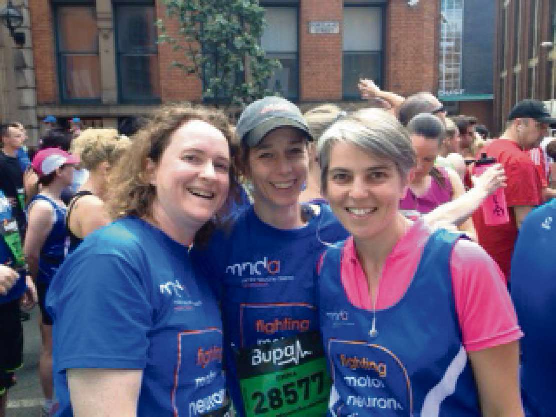 Left to Right: Vicky Cooke, Emma Edwards, Anna Dixon, taking part in the Manc