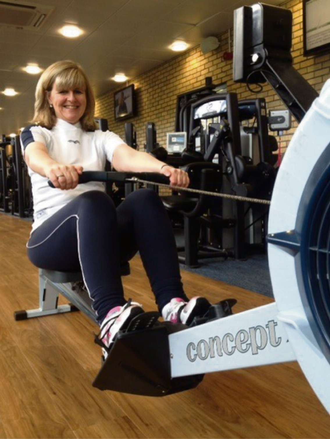 Rowing a marathon for charity