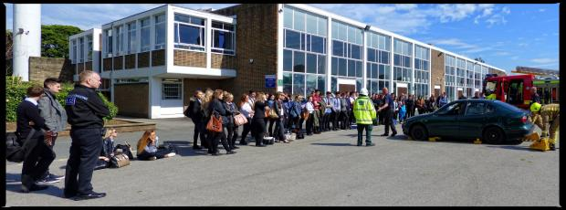 Driver awareness and road safety event at Benton Park School in Rawdon
