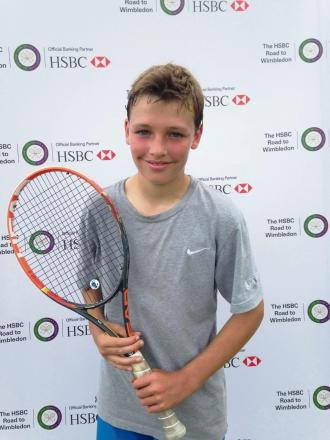Addingham's Oliver Burton, who was a semi-finalist at the HSBC Road To Wimbledon North Regional Qualifier at his host club, Ilkley Lawn Tennis & Squash Club