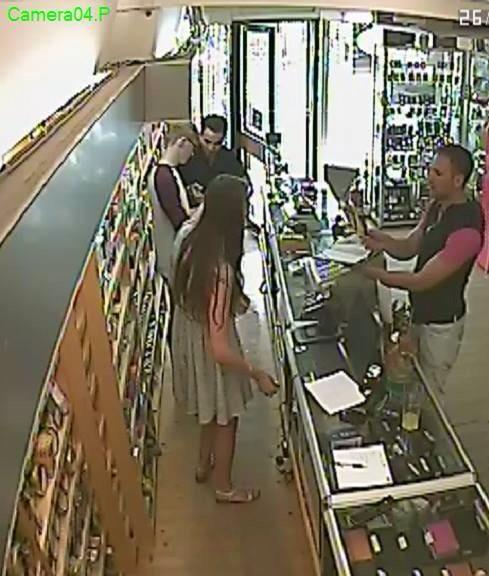 CCTV images of the bogus charity collectors in action at Barber's Tobacconist / Artamis Gifts, Otley.