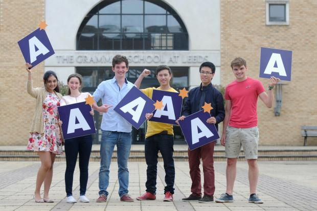 (9308428)GSAL students from Wharfedale (left to right) Trina Seal, Philippa West, Jack Harrison, Will Foster, Matthew Li and Will Bates