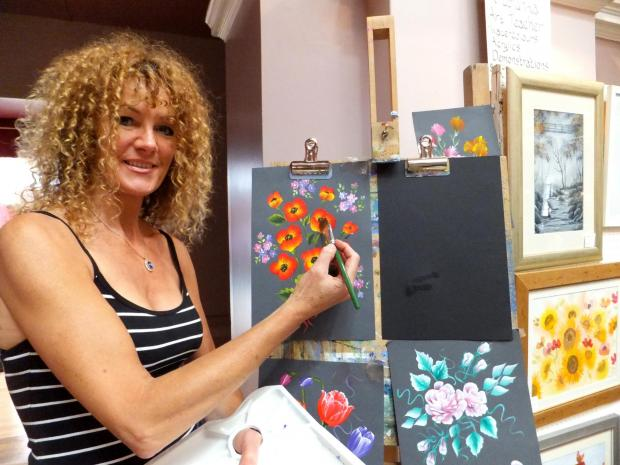 (9147589)Otley artist Tracy Krupianka, who will exhibit her work at the Ilkley Art Show this weekend