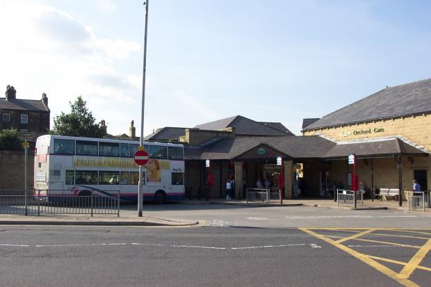 A First bus at Otley bus station